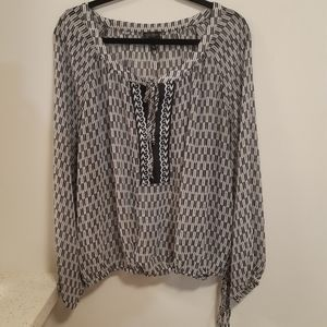 Jessica S. Blk & Sheer Blouse